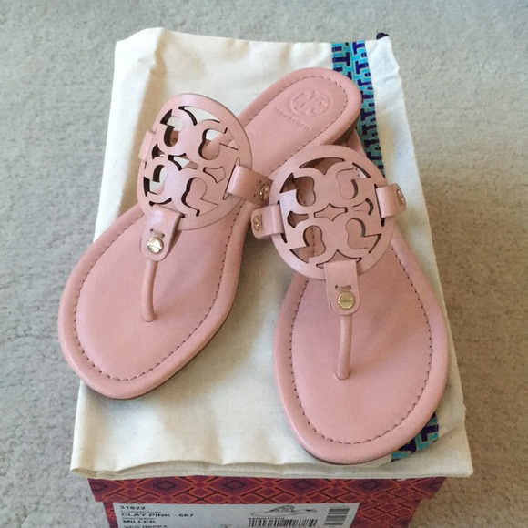 Tory Burch Miller Sandals Size 7 Clay